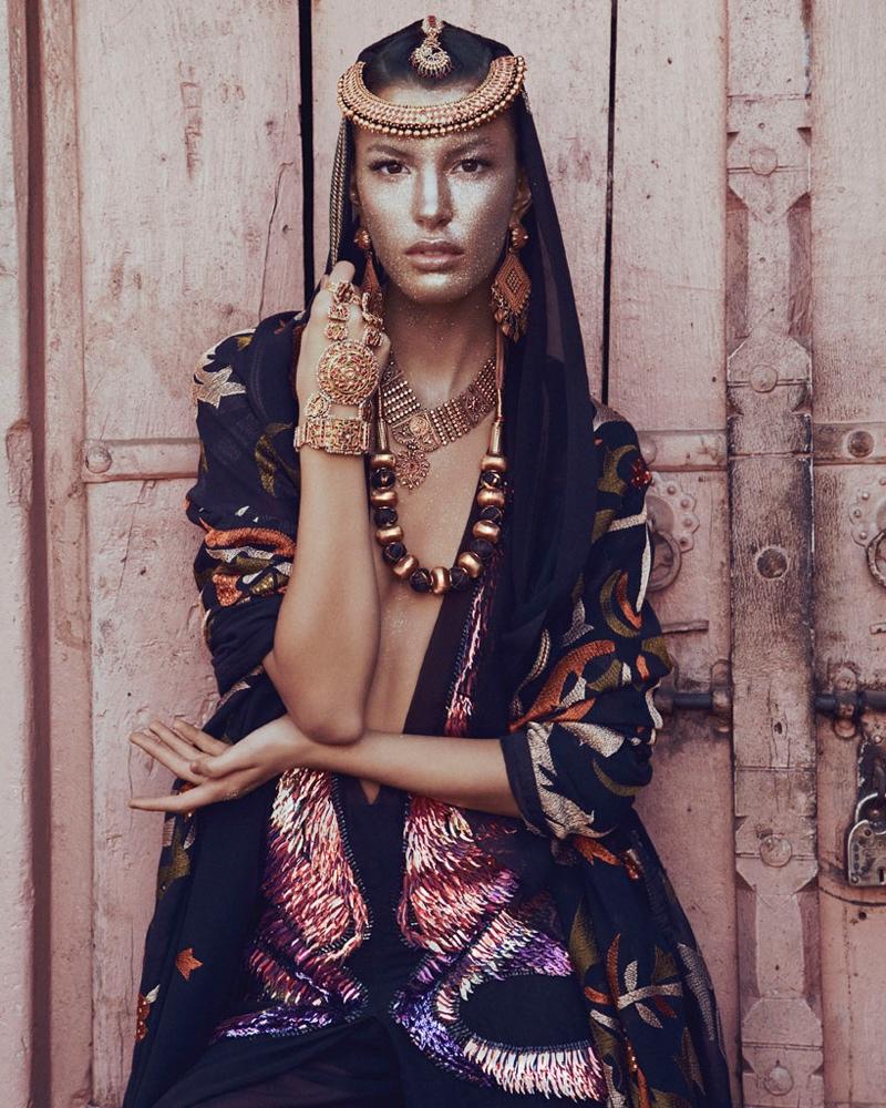 kate kung foto shoot5 Kate Kung modeller Sari stil för hur man spendera den av Andrew Yee