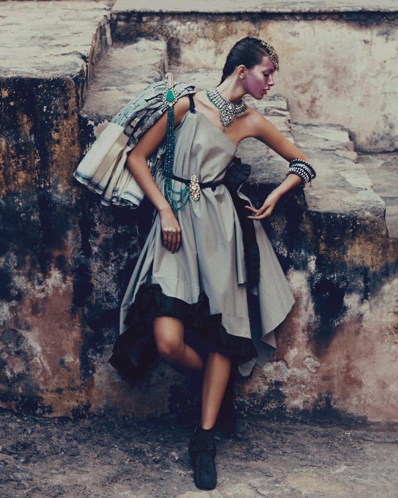 kate kung foto shoot9 Kate Kung modeller Sari stil för hur man spendera den av Andrew Yee