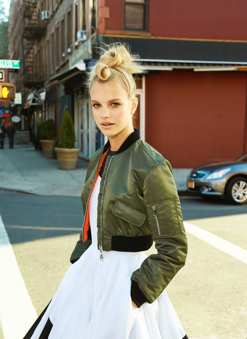 Nadine Leopold Models the Best of City Girl Style for