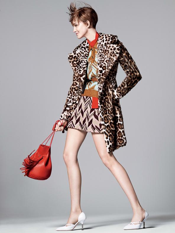 Caroline Trentini Rocks Colorful Fall Fashions for David Sims in Vogue US  Fashion Gone Rogue