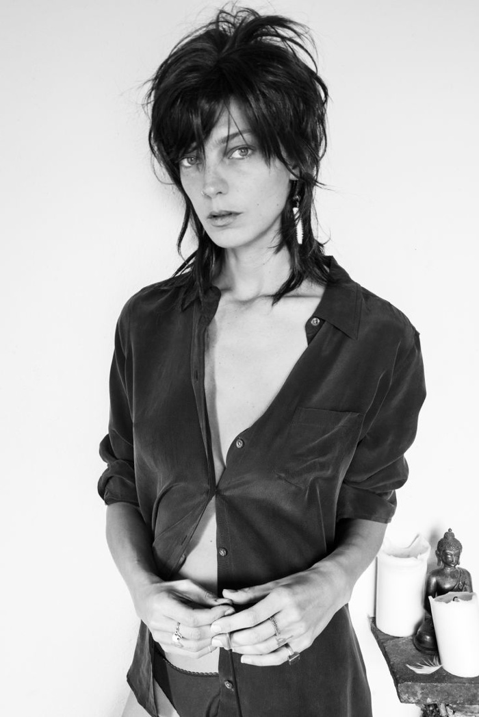 Daria Werbowy for Equipment 2014 FallWinter Campaign