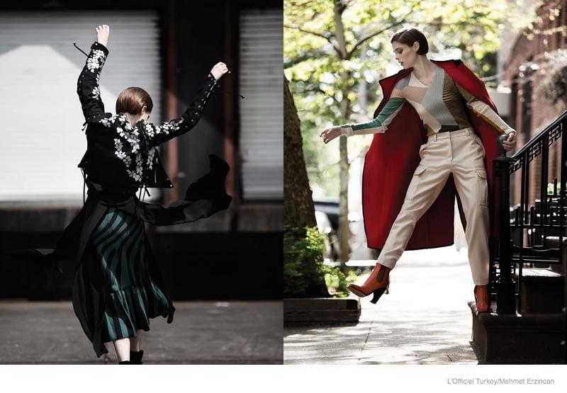 coco rocha street style shoot04 Coco Rocha Wears Street Style for LOfficiel Turkey by Mehmet Erzincan