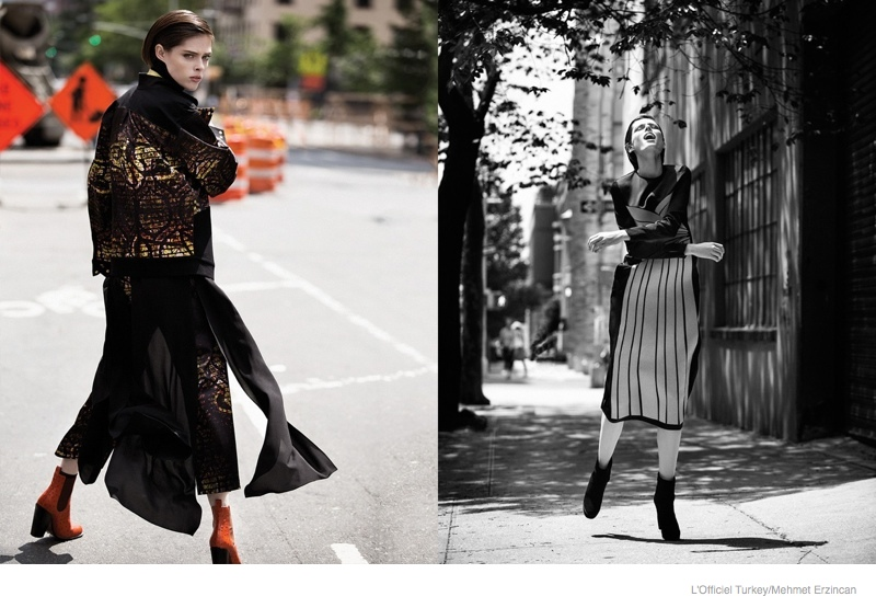 coco rocha street style shoot05 Coco Rocha Wears Street Style for LOfficiel Turkey by Mehmet Erzincan