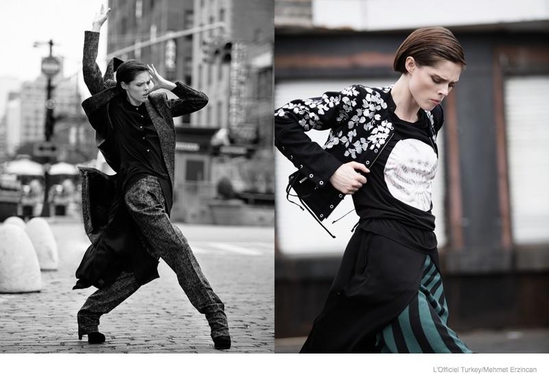 coco rocha street style shoot06 Coco Rocha Wears Street Style for LOfficiel Turkey by Mehmet Erzincan