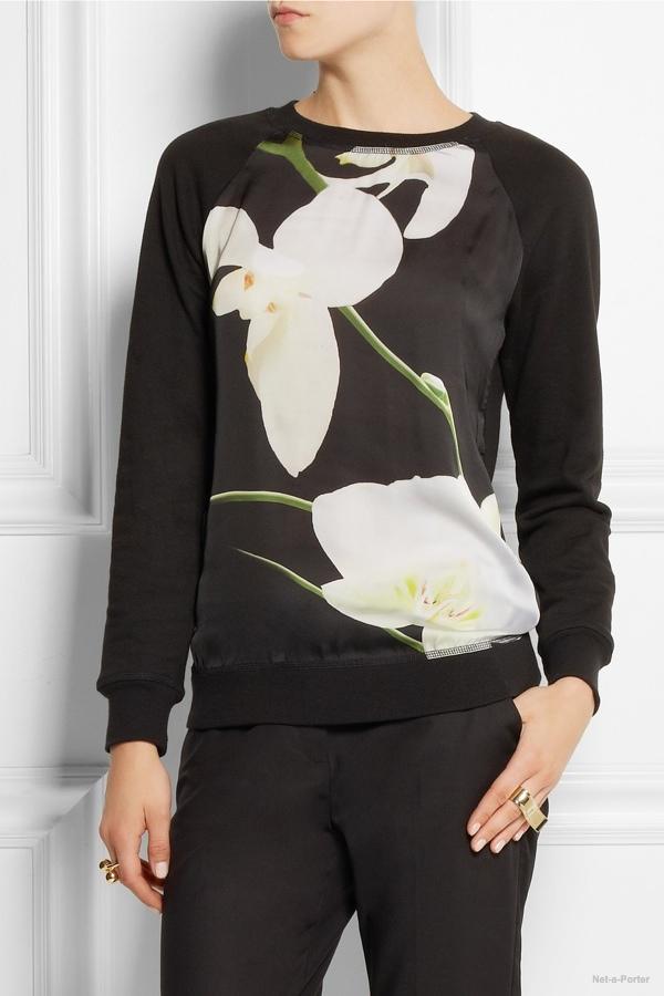 altuzarra target orchid print sweatshirt It's Here! Altuzarra for Target Collection Available to Buy Now