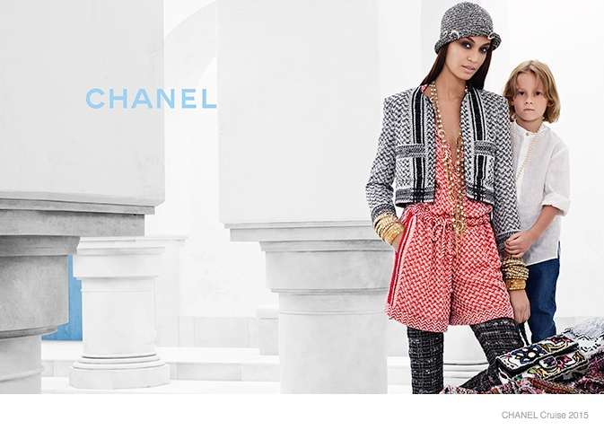 chanel cruise 2015 joan smalls06 Joan Smalls Lounges for Chanel Cruise 2015 Campaign by Karl Lagerfeld