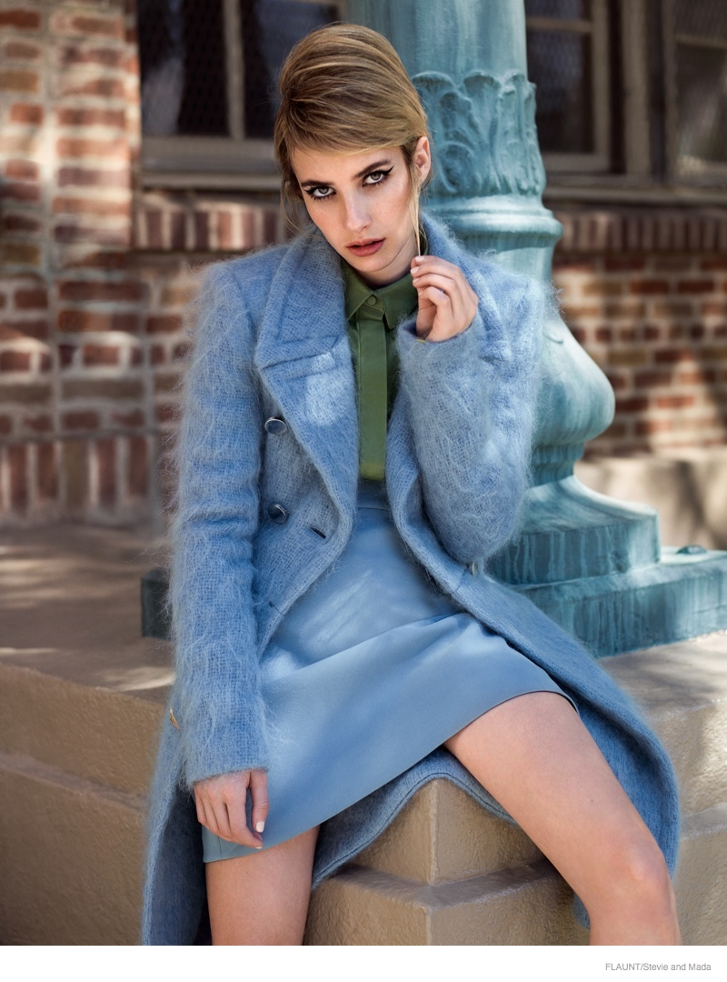 Emma Roberts Wears 60s Style for Flaunt by Stevie and Mada  Fashion Gone Rogue