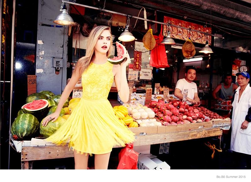 cara delevingne bobo summer 2015 ad campaign09 Cara Delevingne is Back for the Bo.Bô Summer 2015 Advertisements