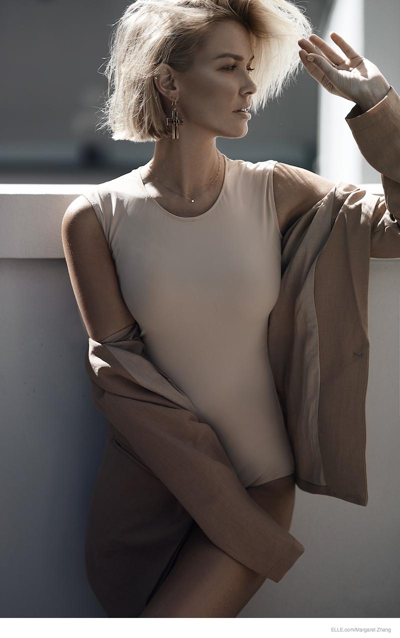 Lara Bingle Wears Neutral Style In Shoot By