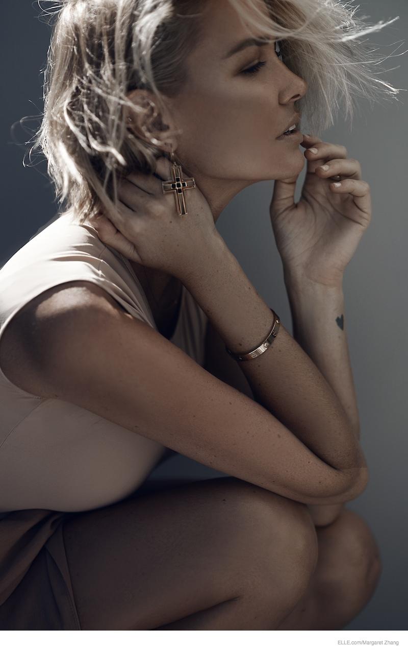Lara Bingle Wears Neutral Style in Ellecom Shoot by Margaret Zhang  Fashion Gone Rogue