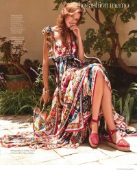 Bianca Balti Wears Bohemian Style for Porter by Hilary Walsh