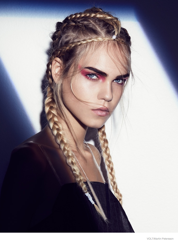 Line Brems Rocks Braided Hairstyles For Volt By Martin