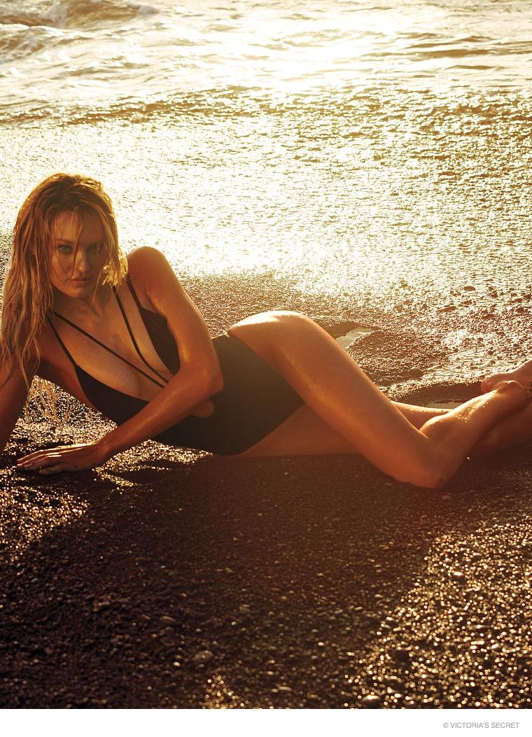 Candice Swanepoel in Swim Photos for Victorias Secret
