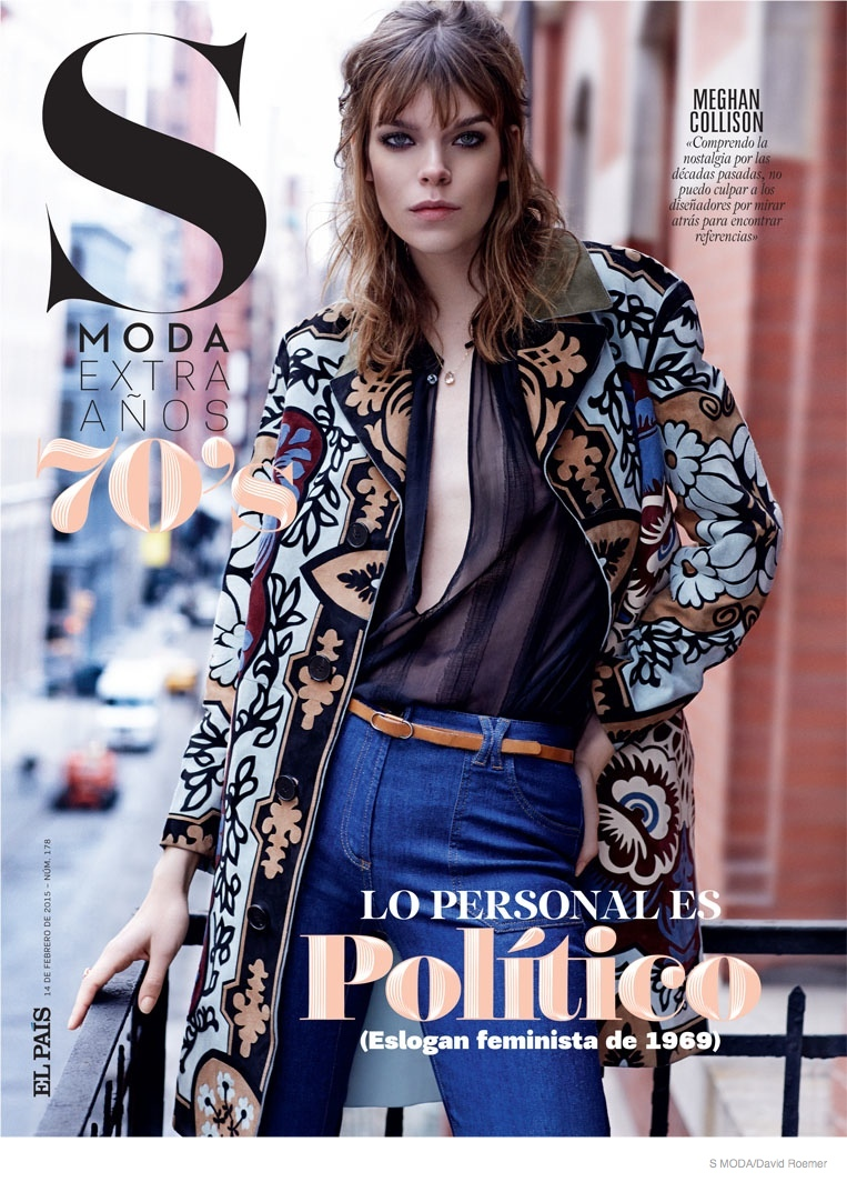 Meghan Collison Wears 1970s Rock  Roll Style for S Moda