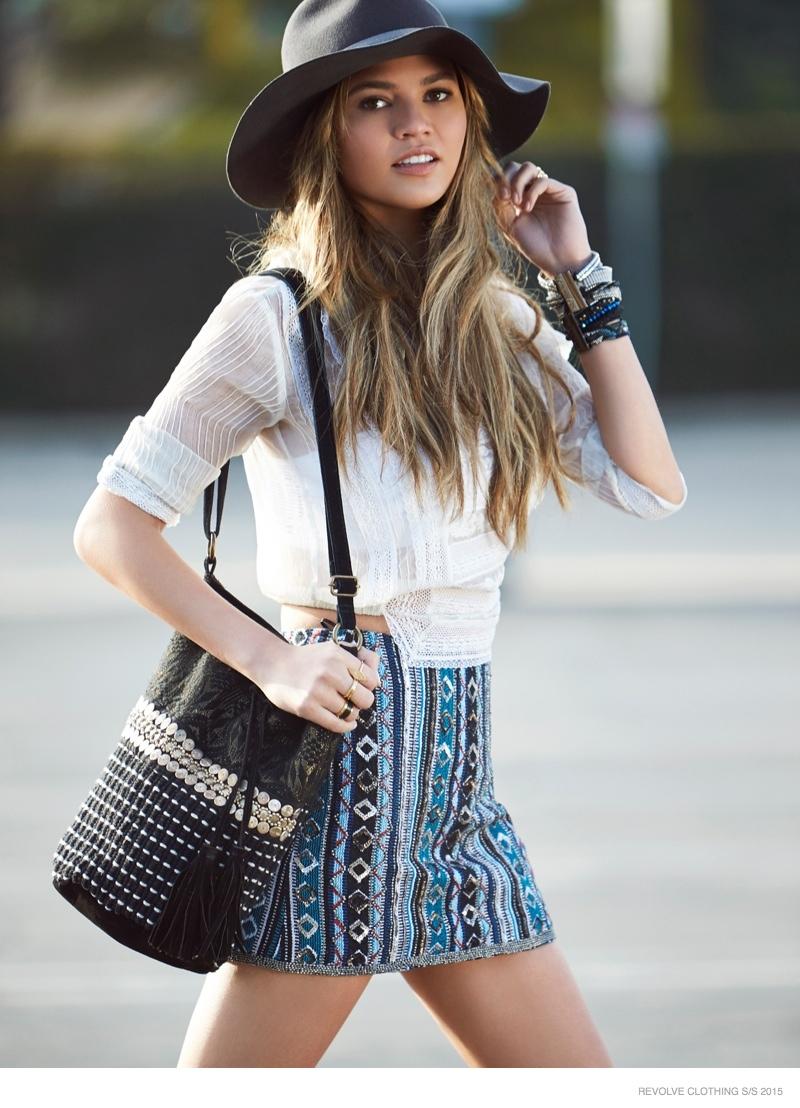 Chrissy Teigen Goes Shopping in REVOLVE Clothing Spring