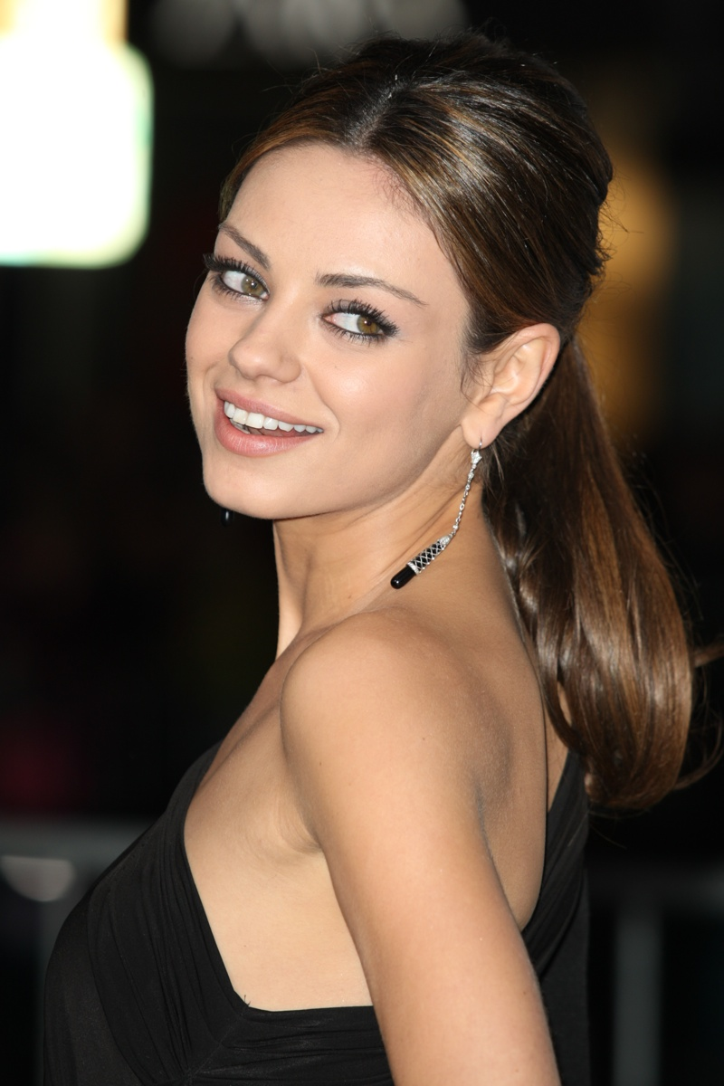 Mila Kunis Sleek Elegant Ponytail
