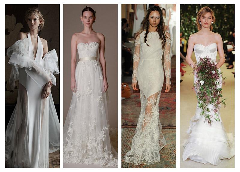 Bridal Spring 2016 Trends: 4 Trending Wedding Looks
