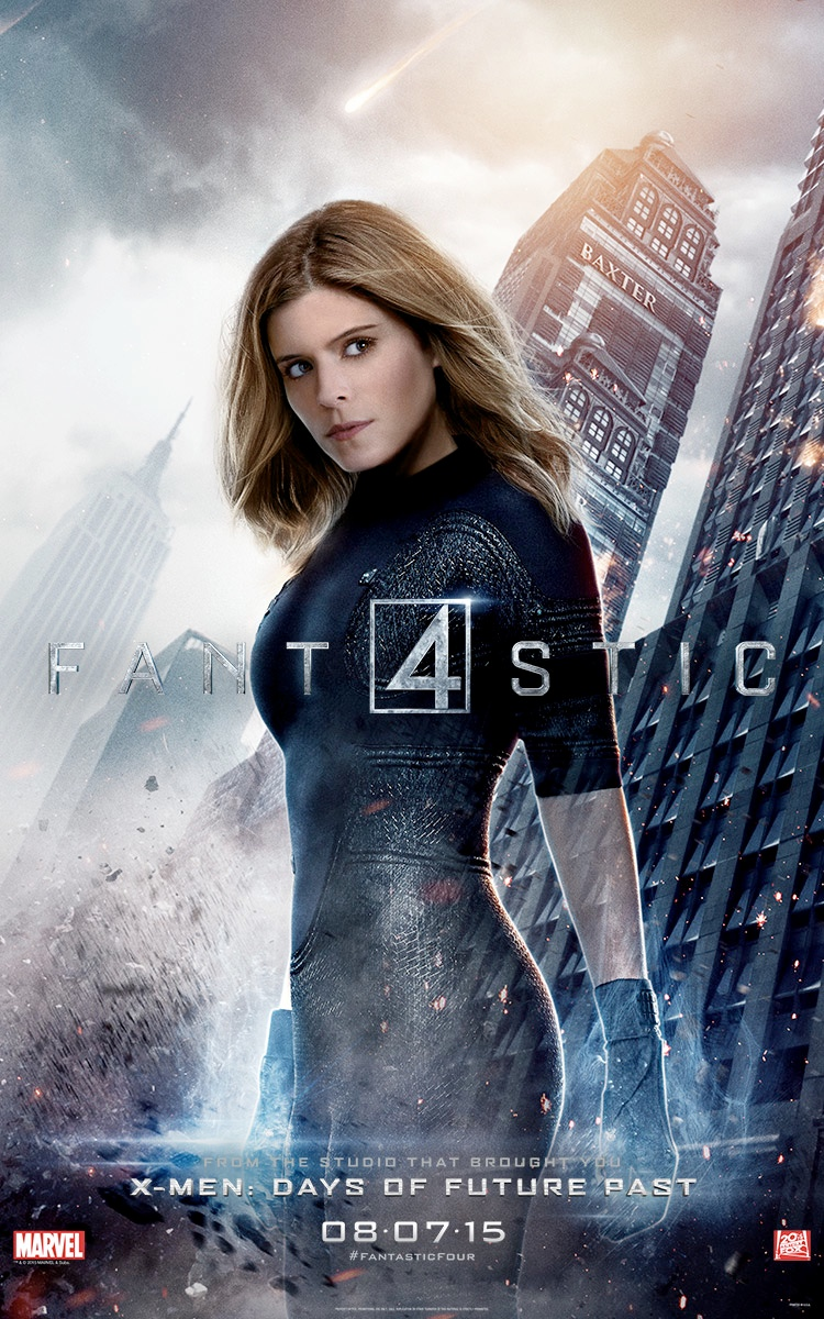 Kate Mara is The Invisible Woman on Fantastic Four Poster  Fashion Gone Rogue