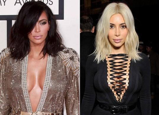 Image result for kim kardashian black to platinum