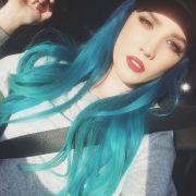 halsey hairstyles blue pink &
