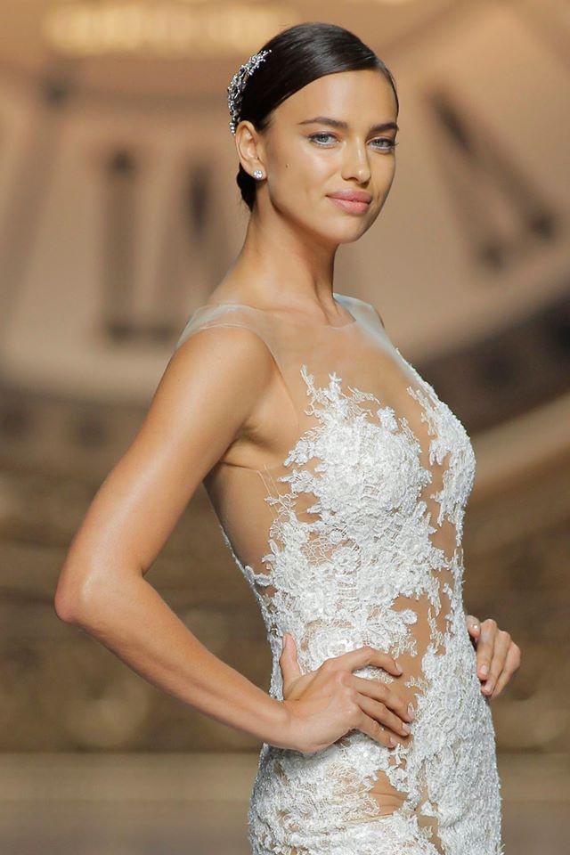 Irina Shayk Makes a Beautiful Bride at the Pronovias