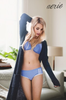 Actress Emma Roberts appears in aerie real's fall 2015 campaign