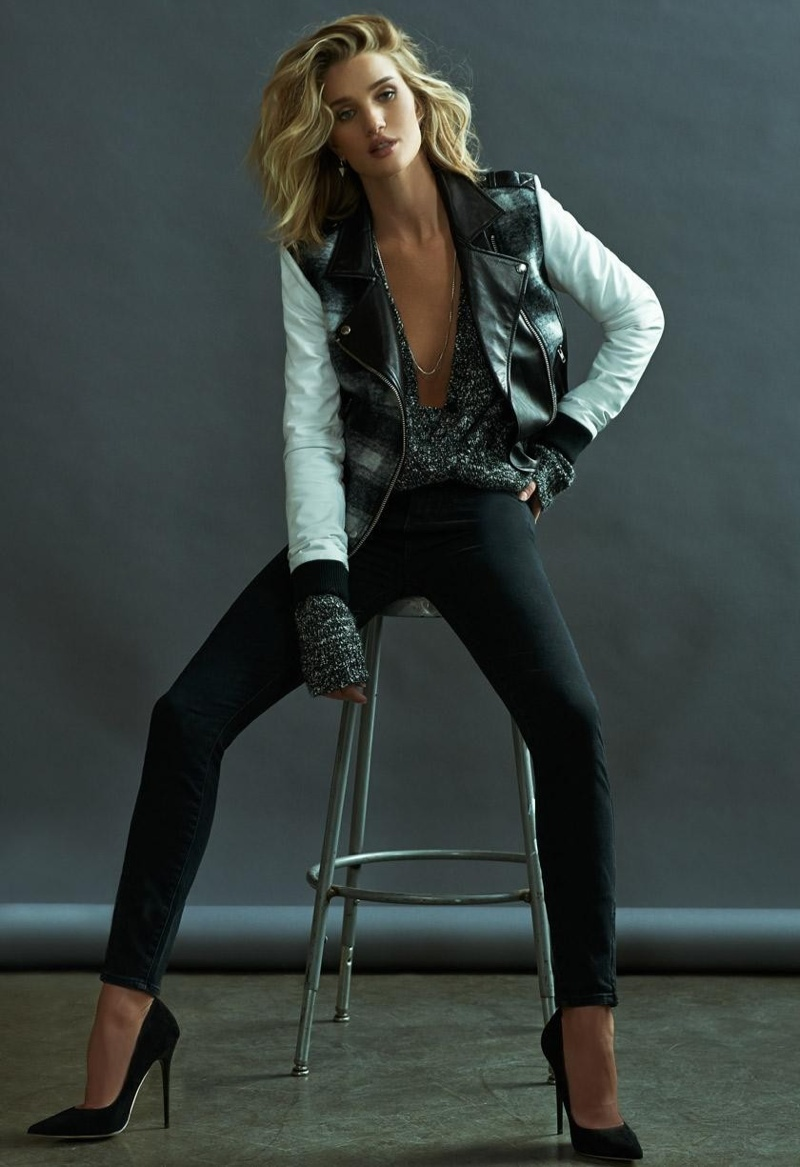 Rosie Huntington Whiteley Wows In Paige Denims Fall 2015