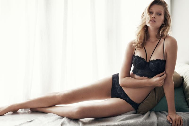 Toni Garrn Stuns In HampM Winter Lingerie Styles Fashion