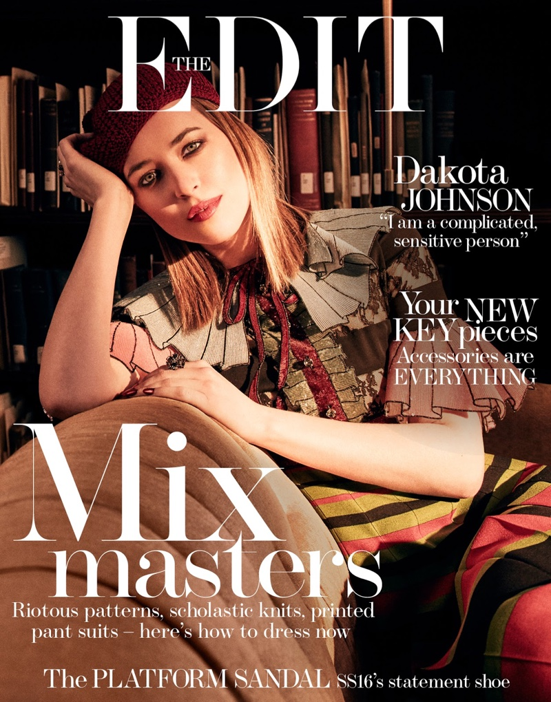 Dakota Johnson on the Edit January 2016 cover