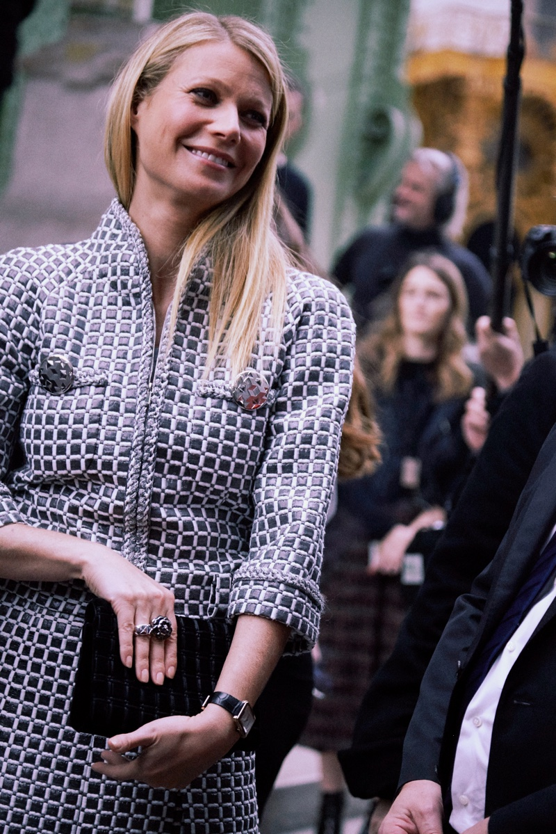 Gwyneth Paltrow attends Chanel's spring-summer 2016 haute couture show in Paris. Photo: Chanel
