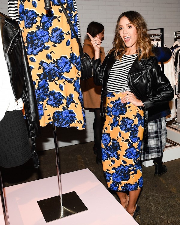 JANUARY 28th: Jessica Alba attends the Target x Who What Wear clothing launch in New York. Photo: Target
