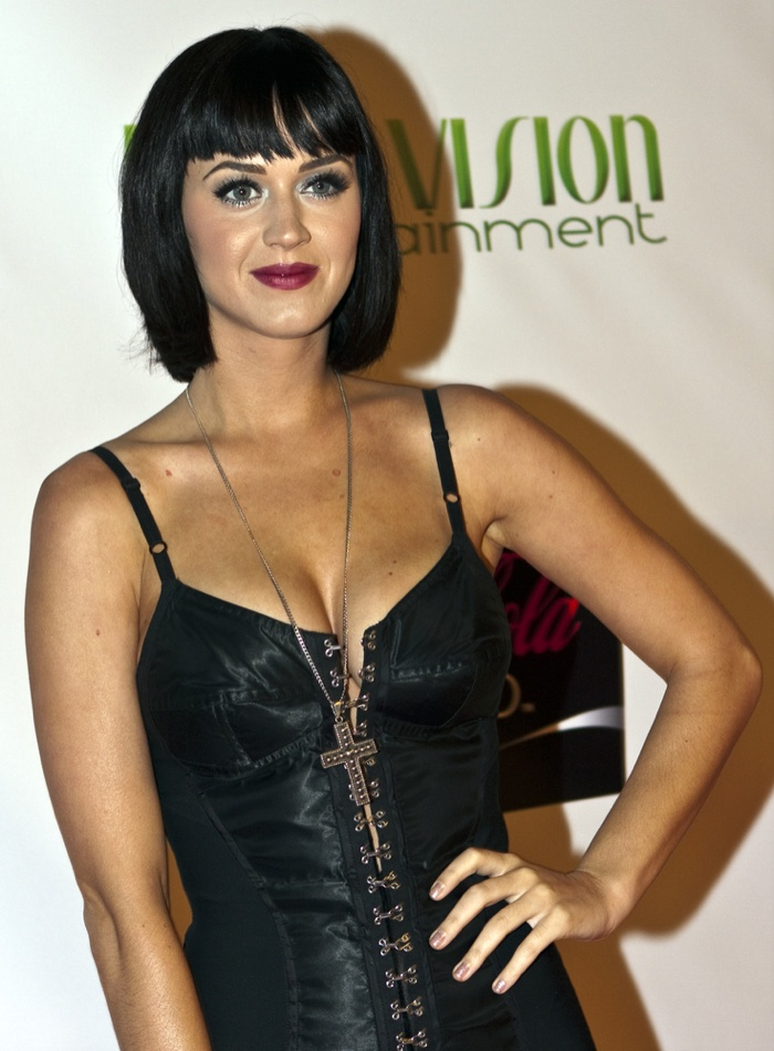 In 2008, Katy Perry was a fresh face on the scene with a short bob haircut. Photo: Dooley Productions / Shutterstock.com