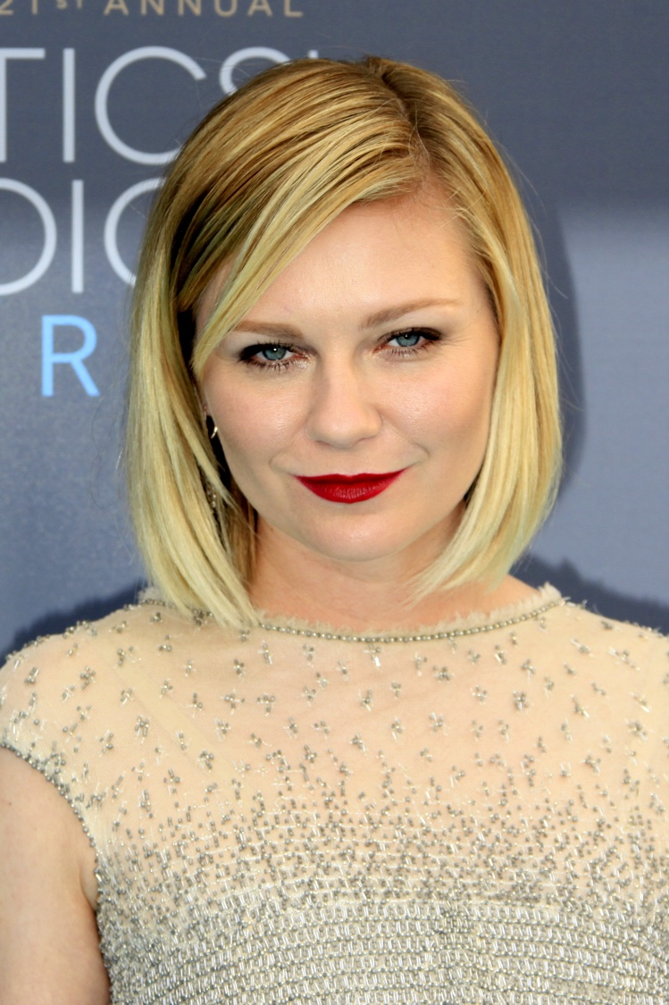JANUARY 2016: Kirsten Dunst attends the 2016 Critics Choice Awards and wears a short bob hairstyle. Photo: Helga Esteb / Shutterstock.com