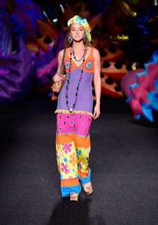 JUNE 2016: Devon Aoki walks the runway at Moschino's resort 2017 show