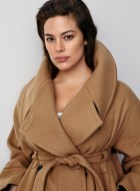 H&M Studio Fall 2016: Ashley Graham wears brown trench coat tied at the waist