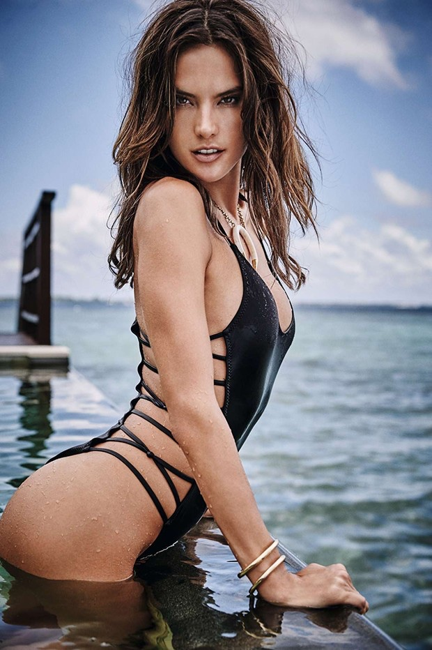 Alessandra Ambrosio Models Bikinis In Sexy GQ Brazil