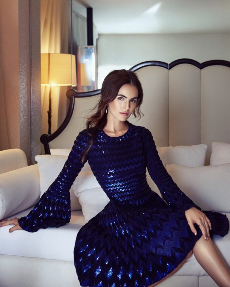 Camilla Belle Wears Glamorous Style for Hello Fashion