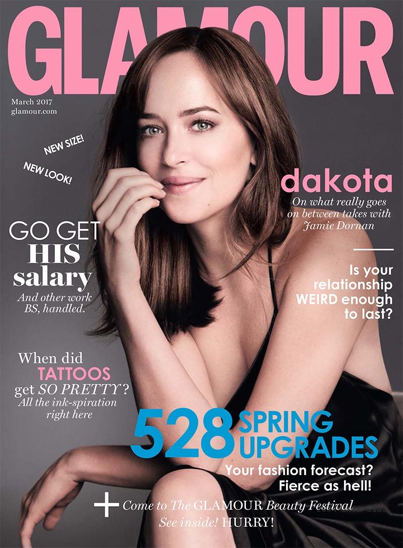 dakota johnson stars in glamour uk, talks 'fifty shades darker'