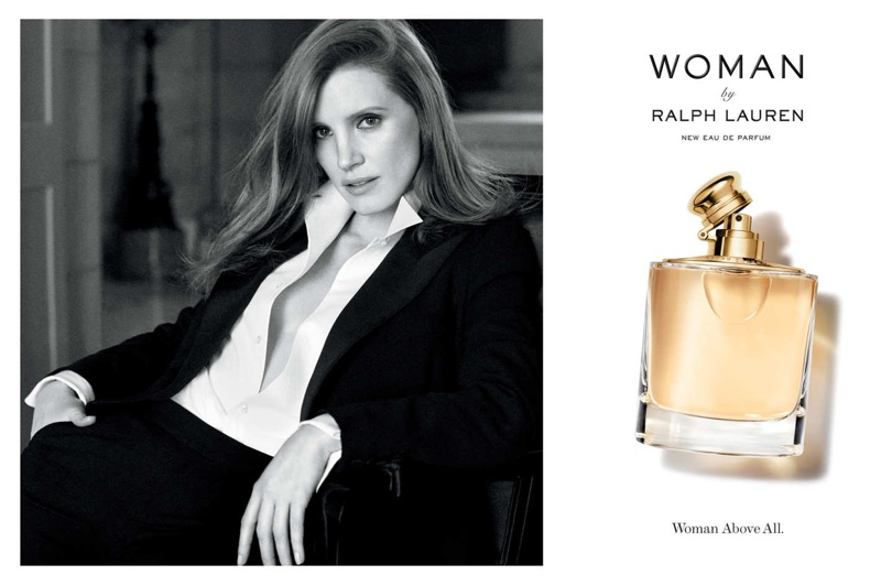 Jessica Chastain stars in Ralph Lauren 'Woman' fragrance campaign