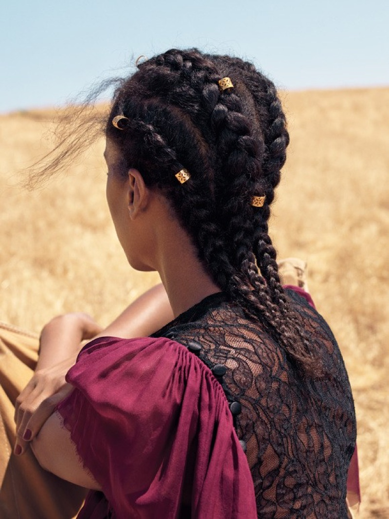 Kerry Washington shows off a chic braided hairstyle