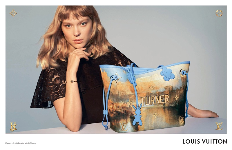 Lea Seydoux stars in Louis Vuitton x Jeff Koons campaign