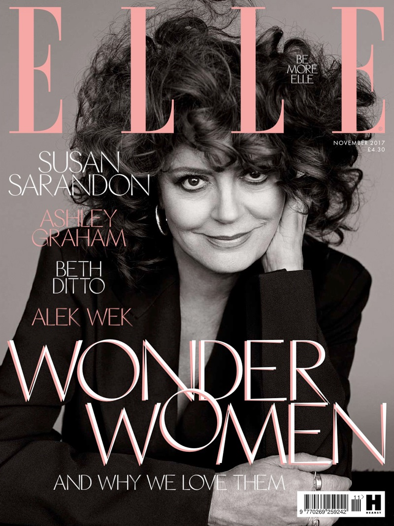 Susan Sarandon on ELLE UK November 2017 Cover