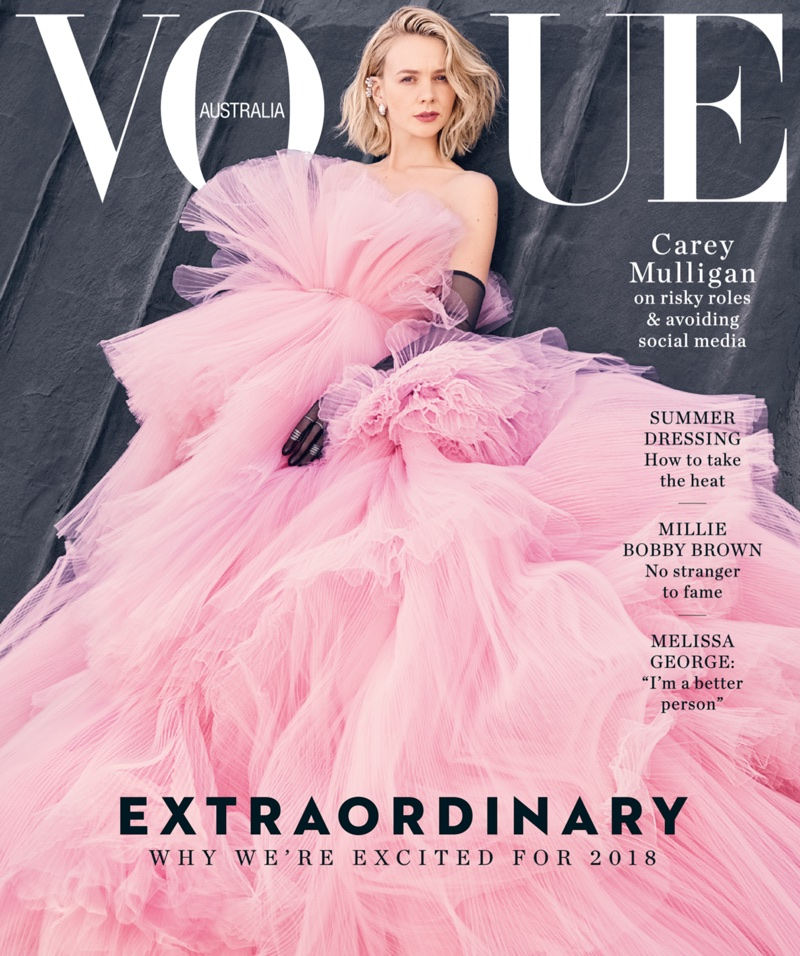 Carey Mulligan on Vogue Australia February 2018 Cover