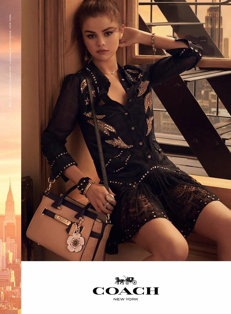 Selena Gomez stars in Coach's spring-summer 2018 handbag campaign