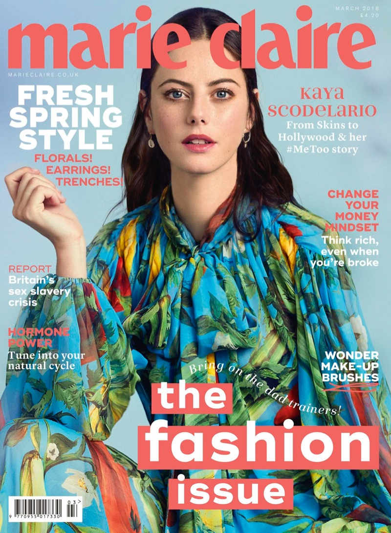 Kaya Scodelario on Marie Claire UK March 2018 Cover