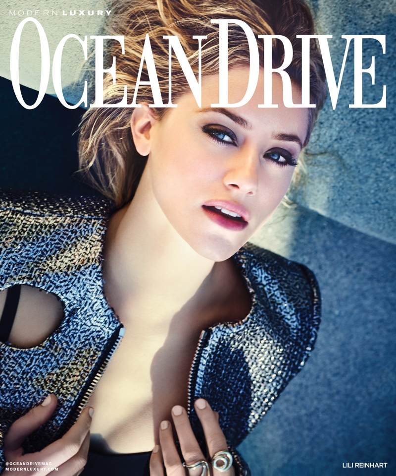 Lili Reinhart on Ocean Drive February 2018 Cover