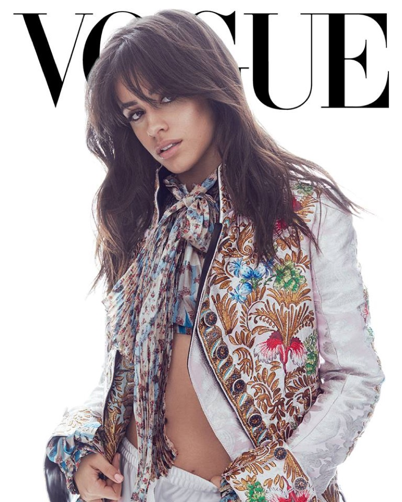 Singer Camila Cabello poses in Louis Vuitton top and pants