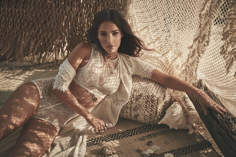 Looking boho chic, Megan Fox fronts Frederick's of Hollywood's spring-summer 2018 campaign
