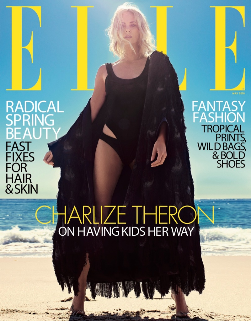 Charlize Theron on ELLE US May 2018 Cover