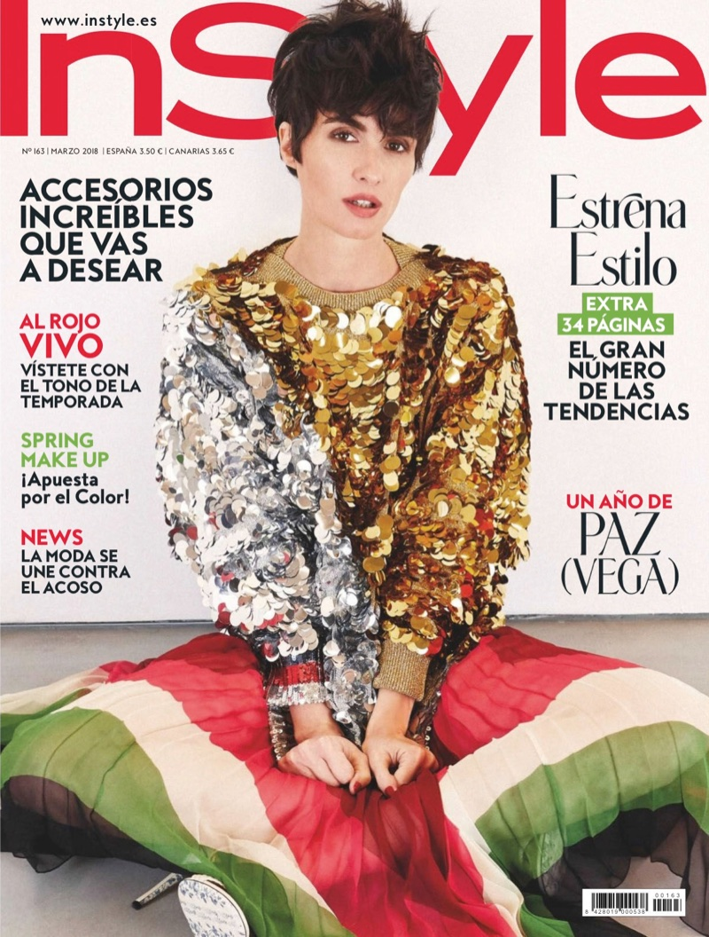 Paz Vega on InStyle Spain March 2018 Cover